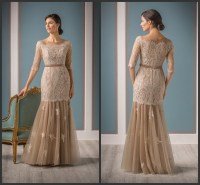 Champagne Trumpet Mermaid Mother of the Bride Dresses ...