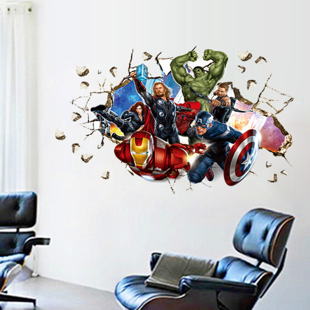 movie wall stickers home decor avengers cartoon wall stickers dandelion blossom wall decals stickers appliques home decor