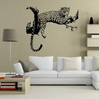 Leopard Wall Stickers Novelty Decal Sticker Animals ...