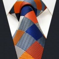 S17 Extra long size Checked Multicolor Mens Matching Hanky ...