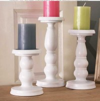 iron metal candle holder set pillar candle stand for home ...