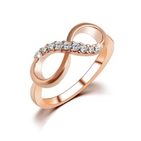 New Design hot sale Fashion Alloy Crystal Rings gold ...