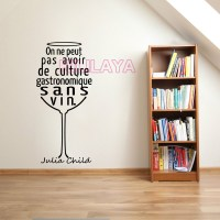 Stickers French Quotes Wineglass Vinyl Wall Sticker Decals ...