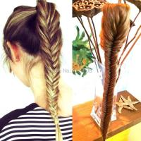 New Styling Clip On Synthetic Fishtail Plait Ponytail Long ...
