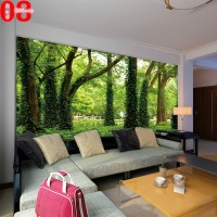 Large tv background wall paper bedroom sofa mural ...