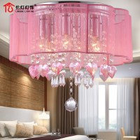 Crystal Ceiling pink warm interior lighting LED lighting