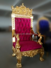 Or bois chaise trne roi, rouge velours pas cher chaise ...