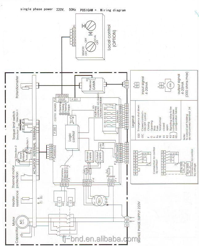 diagrama de cableado for actuator