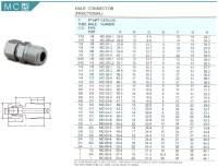 En acier inoxydable 304 316 double virole connecteur mle ...