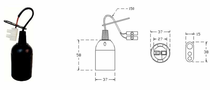 wiring e27 lamp holder
