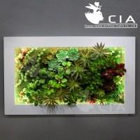 Vertical Wall Decor Artificial Plants Arrangement Mixed ...