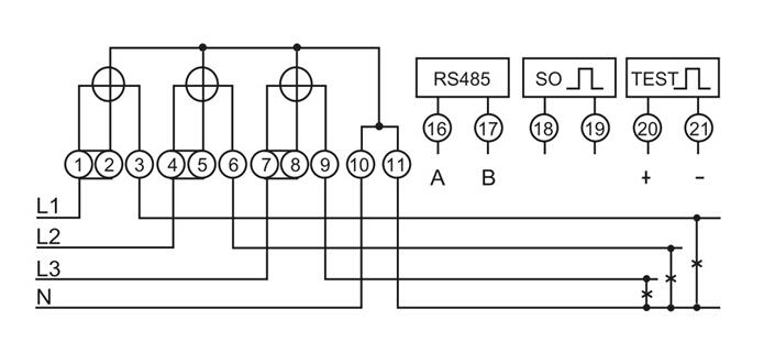 3 phase kwh meter wiring diagram