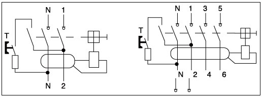 wiring diagram 4 pole rcd