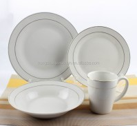 16pcs Silver White Royal Porcelain Dinnerware,Make Your ...