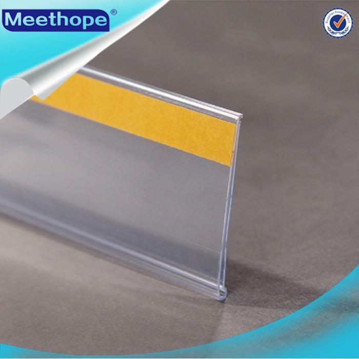 Supermarket Adhesive Shelf Plastic Price Label Holder
