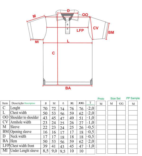 Polo T Shirts Size Chart Arts - Arts
