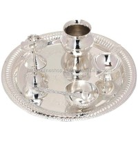 Silver Plated Pooja Thali Set - Buy Indian Pooja Thali Set ...