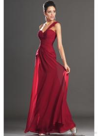 Long Red Chiffon Bridesmaid Dresses - Junoir Bridesmaid ...
