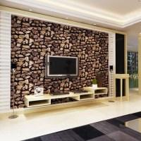 3D stone wallpaper Luxury vintage brick effect wallpaper ...