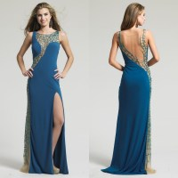 Teal-Peacock-Style-Evening-Dresses-2015-Night-Gown-Dresses ...