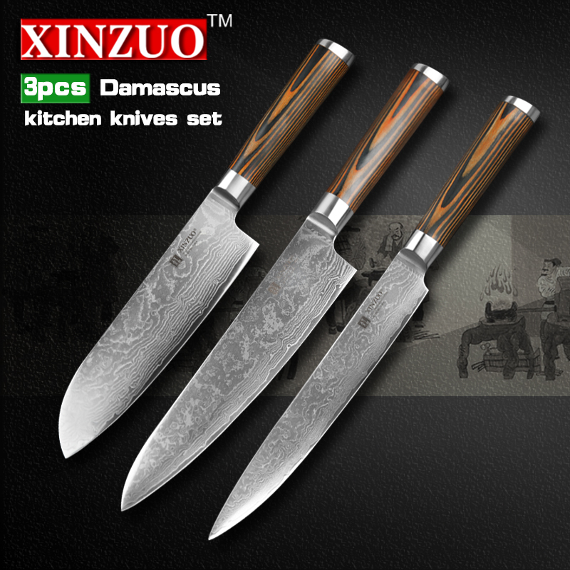 buy pcs kitchen knives set high quality damascus kitchen knife matelic image quality kitchen knives