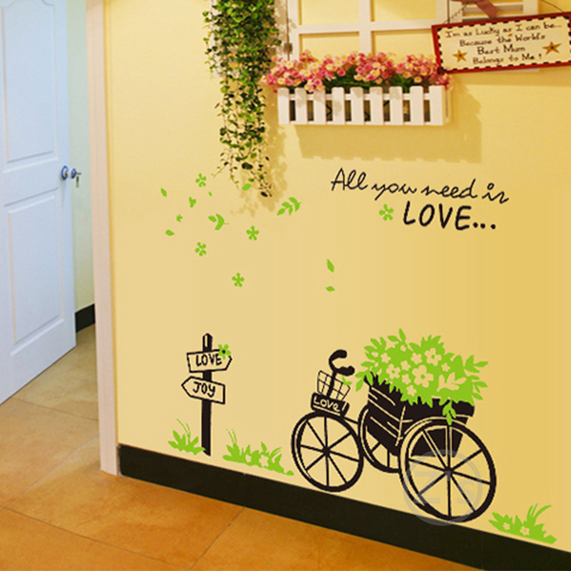 buy hot cheaper wall decals bike stickers bicycle wall sticker bicycle wall decals bicycle classic basket wall