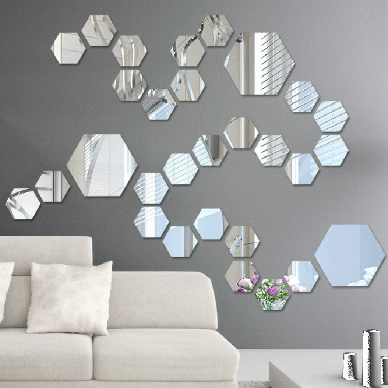 mirror acrylic wall sticker diy art vinyl decal home decor wall wall mirror stickers tonka design digsdigs