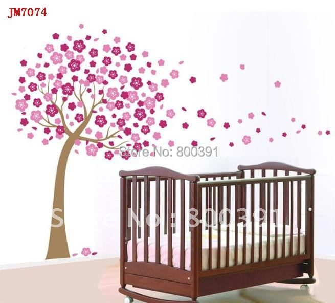 wholesale lovely tree wall sticker baby room kids wall decals home wall murals wall stencils wall stickers kids wall art high