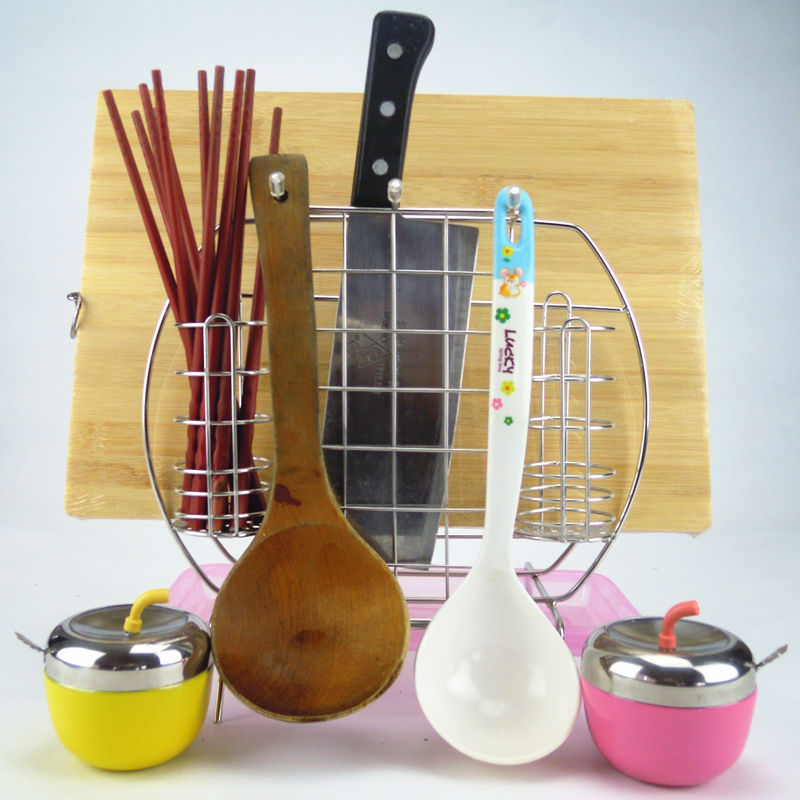pink square stainless steel knife holder kitchen utensils hen rooster piece pink kitchen cutlery set overstock