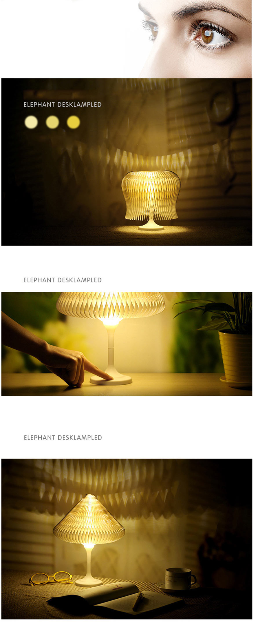 Led Farbtemperatur Night Lights 7 Colors Led Usb Cable Mini 3d Lamp Dest Light Home Creative Decoration White