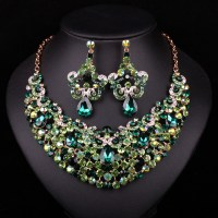 Fashion Gold Plated Necklace Earring Indian Bridal Jewelry ...