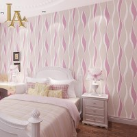 Pink And White Striped Bedroom