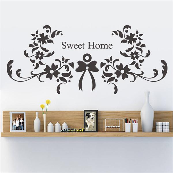 flower sweet home wall sticker quote wall stickers home decor dandelion blossom wall decals stickers appliques home decor