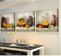 3 Panels paintings for the kitchen fruit wall decor modern ...