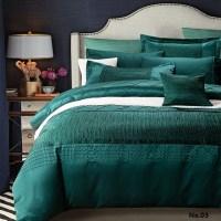 Luxury designer bedding set quilt duvet cover blue green ...