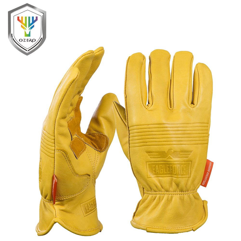 New men 39 s work gloves goat leather security protection safety cutting working repairman