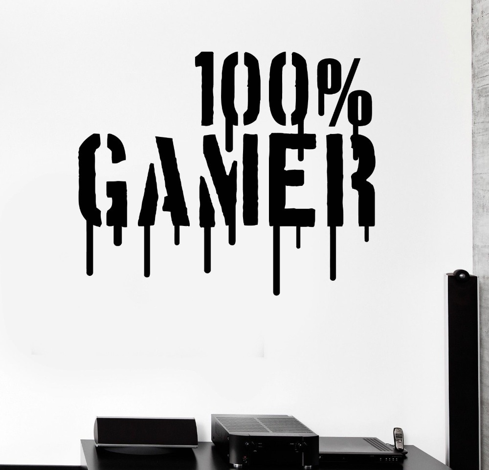 gamer video games computer boys kids room vinyl decal home decor wall buy cheap video game stickers lots intended video game wall decals