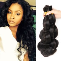 Brazilian Braiding Hair Bulk No Weft 3 Bundles Body Wave ...