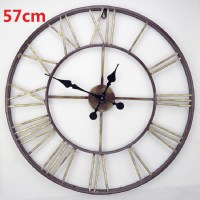 Buy 2016 Oversized Vintage Wrought Iron Wall Clock Large