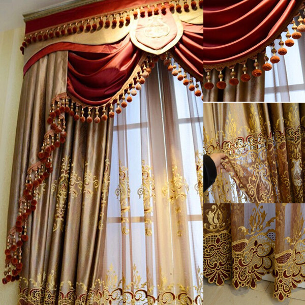 2016 Fashion new design luxury window elegant valance