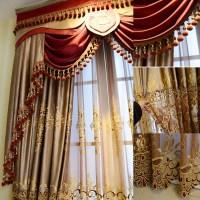 2016 Fashion new design luxury window elegant valance ...