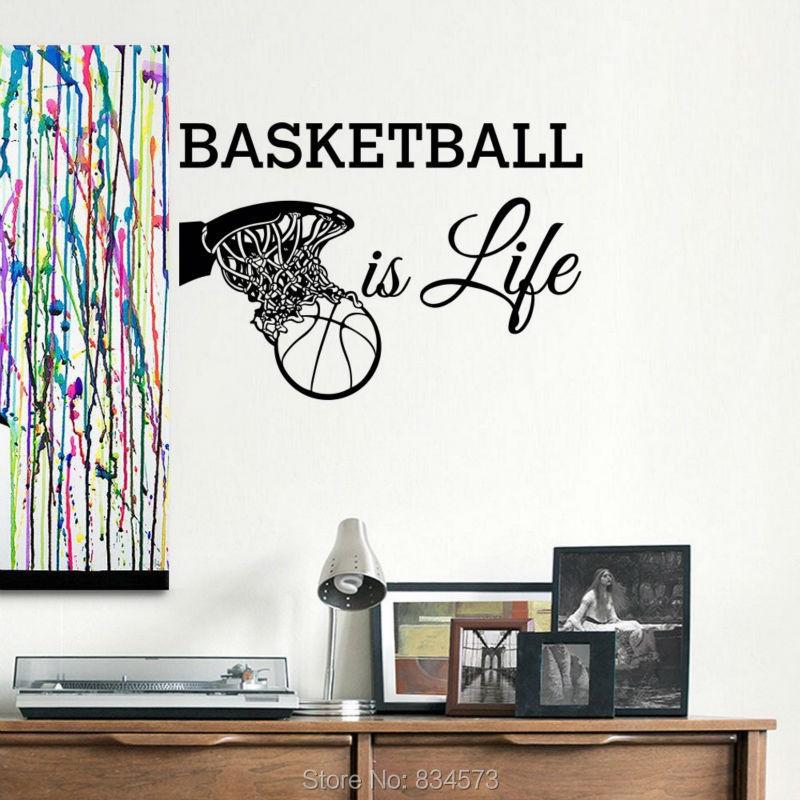 sports teen basketball life wall art sticker decal home diy teen rocker wall decals stickers high style wall decals wall decals