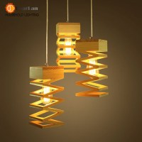 Buy BOTIMI Modern Wooden LED Ceiling Lights White Metal ...