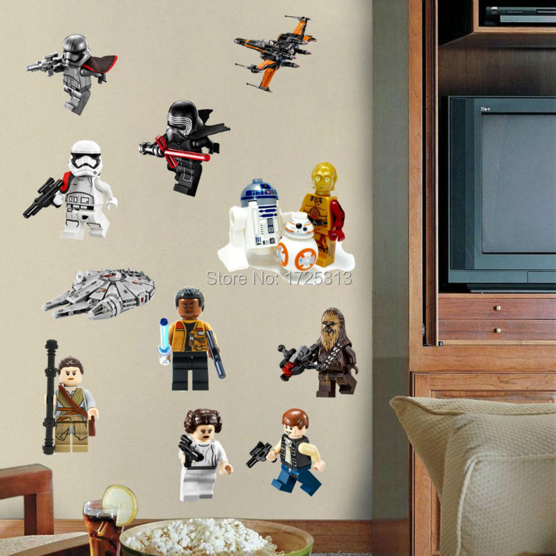 star wars poster lego movie wall stickers art baby nursery kid lego star wars characters decal removable wall sticker home decor