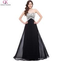 Elegant Long Black Prom Dresses 2016 Robe Grace Karin ...