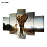 Canvas Painting Elephant Wall Art Picture Home Decoration ...