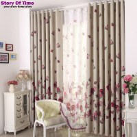 Modern Floral interior decoration Window Curtain Valance
