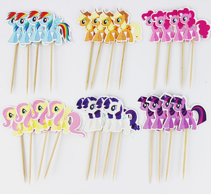 My Little Pony centerpieces, great for birthday parties! DIY - free birthday cards templates