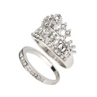 Aliexpress.com : Buy Crown Wedding Rings For Women Silver ...