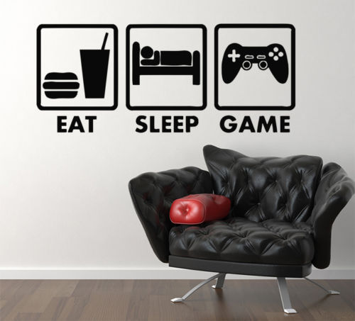 video games eat sleep game xbox vinyl decal home decor wall sticker buy cheap video game stickers lots intended video game wall decals